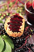 Elderberry jelly on bread