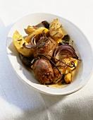 Salsicce infornate (Oven-baked pork sausages, Italy)