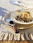 Strangozzi alla norcina (Pasta with cream sauce & truffle)