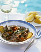Cacciucco alla livornese (Mixed fish stew, Tuscany)