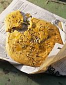 Cecina (chick-pea flatbread), Tuscany, Italy
