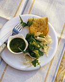 Insalata di rucola con pecorino (Rocket salad with sheep's cheese)