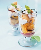 Plum dessert with soft cheese