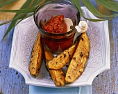 Sweet potatoes with tomato and ginger sauce