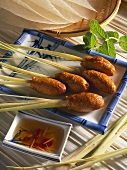 Shrimp forcemeat on lemon grass (Vietnam)
