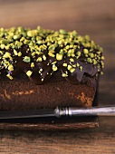 Chocolate and pistachio cake