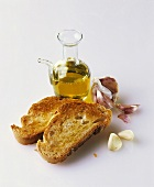 Crostini aglio, olio (Toasted bread with olive oil & garlic)
