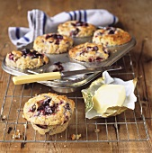Plum muffins and butter
