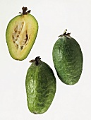 Feijoa (pineapple guava), whole and a half