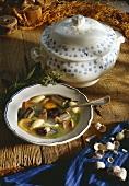 Holstein eel soup
