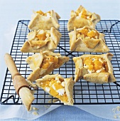 Pumpkin and goat's cheese tarts