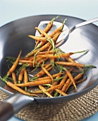 Deep-fried baby carrots
