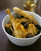 Chicken with pickled lemons and black olives