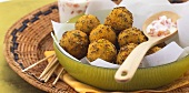 Fried chick-pea balls from Gujarat (India)