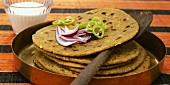 Spicy missi roti (flatbread, India)