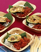 Indian-style stuffed courgettes