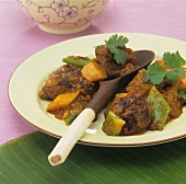 Lamb and vegetable curry