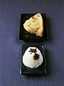 Swordfish steak and rice with star anise