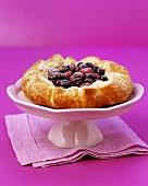 Red berry and cherry tart