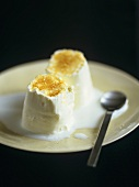 Petit Suisse (unripened French cheese) with brown sugar