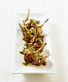 False frogs' legs with honey fungus and fresh herbs