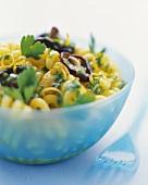 Orecchiette with lemon & parsley pesto & shiitake mushrooms