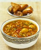 Ramadan soup with lamb and chick-peas