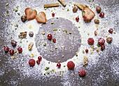 Zutaten für Beerenkuchen