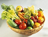 Bowl of fruit and vegetables