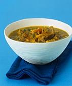 Lamb soup with celery and saffron