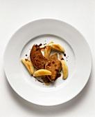 Goose foie gras with potato dumplings