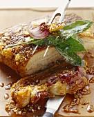 Roast pork with crackling and seasoning