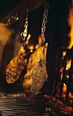 Cote de boeuf on the grill