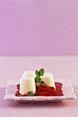 Panna cotta with strawberry compote