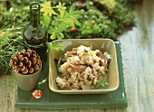 Oyster mushroom risotto