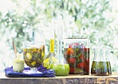 Preserved vegetables and herbal oil