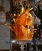 Caramel glass as a table or buffet decoration