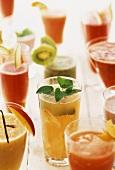 Various fitness drinks