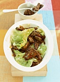 Ox tails with white cabbage