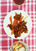 Duck breast with balsamic sauce and glazed carrots