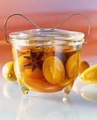 Marinated kumquats with star anise