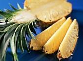 Ananas, aufgeschnitten