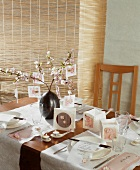 A festive table laid for an Oriental meal