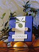 Einladungskarte für griechisches Essen