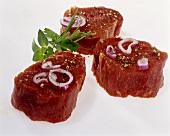 Sliced pork fillets