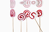 Red and white lollies