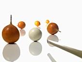 Granadillas as billard balls