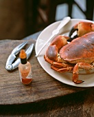 Steamed crab with Tabasco