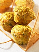 Spicy corn muffins with cheddar cheese