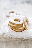 Rousquilles (Catalan biscuits with icing sugar)